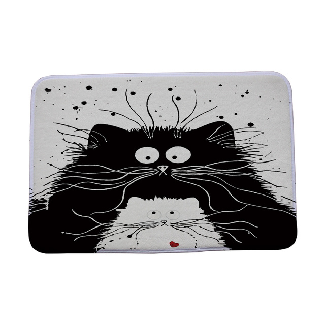 Black and White Door Mat