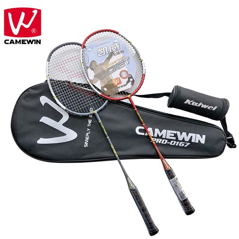 цена CAMEWIN Brand Professional Badminton Racket Carbon High Quality Badminton Racquet | 2 PCS Badminton Rackets+3 Balls+1 Bag |
