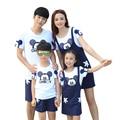 2016 Summer family look clothes outfits cartoon Fashion mother daughter shirt dress sets  girls boys kids Pants shorts sets