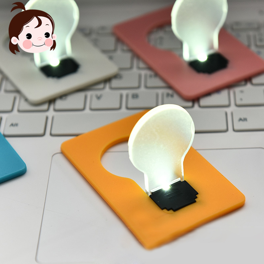 2018 Christmas Gift 1pc Pocket Card Lamp Mini Portable USB Mini LED Night Light Bulb Versatile