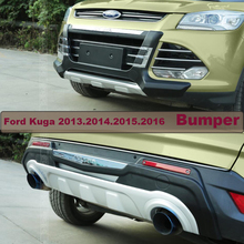 Bumper Protector Guard Skid Plate For Ford Kuga 2013.2014.2015.2016 Brand New ABS Front+Rear Bumpers Car Accessories