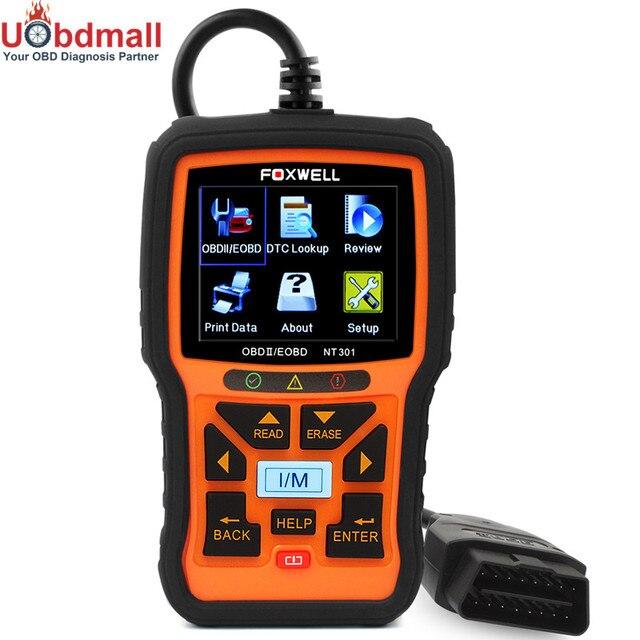 Универсальный OBD2 Автомобильный Сканер Foxwell NT301 Проверки Двигателя NT301 Автомобиля OBD Диагностический Инструмент С DTC MIL Стоп-Кадр Данных