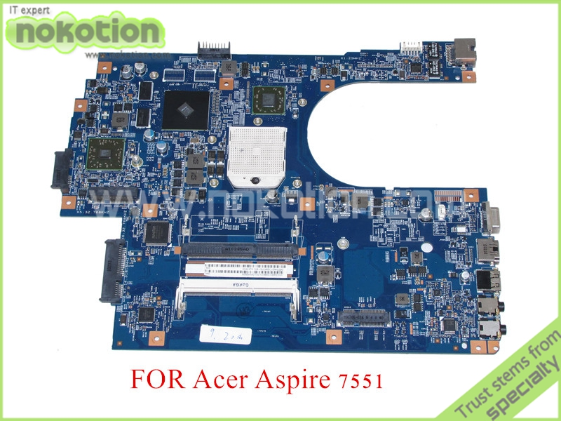 NOKOTION JE70-DN MB 09929-1 48.4HP01.011 MBBKM01001 MB.BKM01.001 For acer aspire 7551 7551G laptop motherboard HD5470 DDR3 laptop motherboard fit for acer aspire 5551 5551g mbptq02001 mb ptq02 001 new75 la 5912p ddr3 mainboard