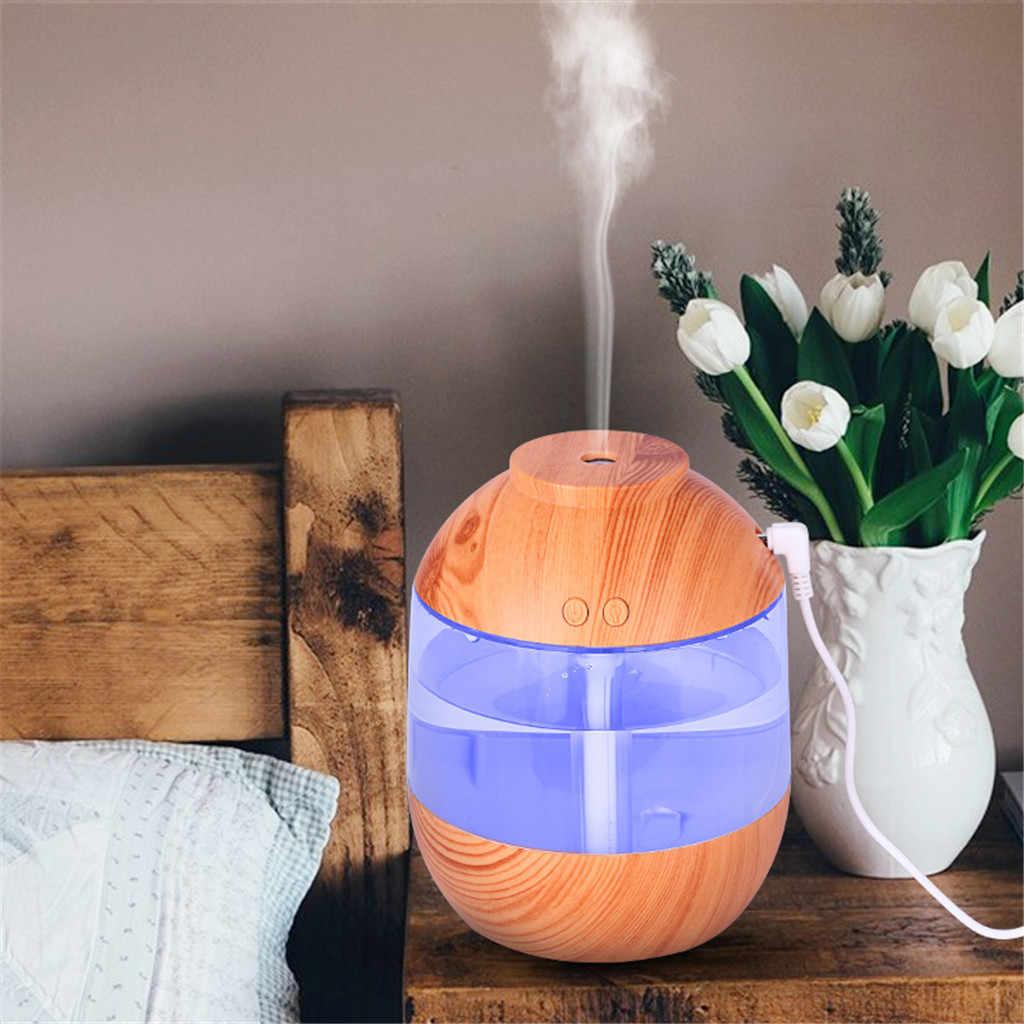 Difusor de aceite esencial con Aroma de aire de 700 ml, humidificador de aromaterapia ultrasónico, purificador USB, coche de oficina, coche, vapor, LED #35