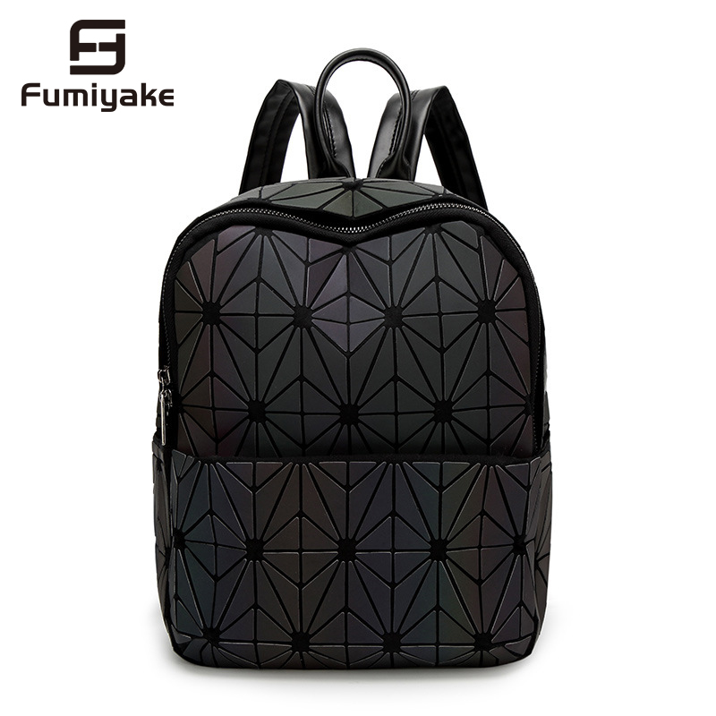 Fashion Bag New Luminous Backpacks Female Fashion Girl Daily Backpack Geometry Package Sequins Folding School BagFashion Bag New Luminous Backpacks Female Fashion Girl Daily Backpack Geometry Package Sequins Folding School Bag