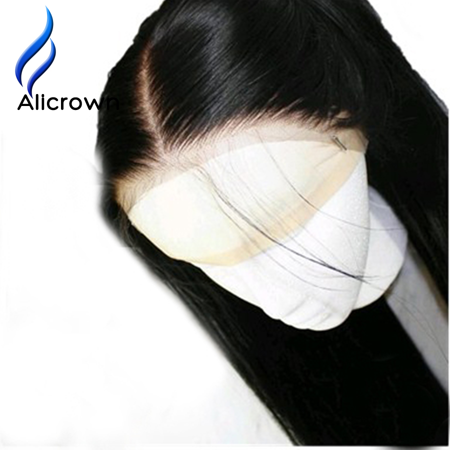 Alicrown Lace Front Human Hair Wigs For Black Women Straight Brazilian Remy Hair10-20″Pre Plucked Natural Hairline Free Shipping