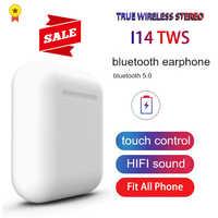 Original i14 TWS Blutooth Mini Fone De Ouvido Sem Fio Fones de Ouvido fone de Ouvido Estéreo Esportes fone de Ouvido audifonos para celular elari PK i80 i88