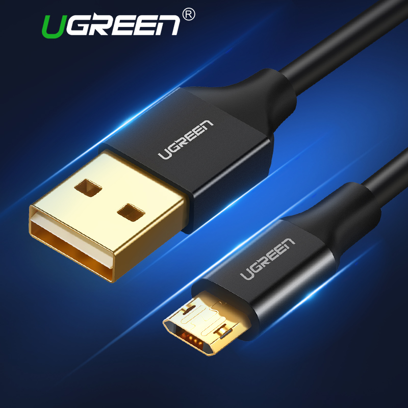 Ugreen Реверсивный Micro USB кабель спутывания USB на двусторонний синхронизации данных USB Зарядное устройство кабель для Samsung HTC LG Sony Androidкупить
