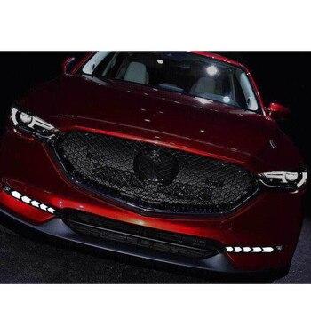 Carro Piscando Luzes de Circulação Diurnas LED Para Mazda cx-5 cx5 cx 5 2017 2018 lâmpada drl nevoeiro 12 V DRL luzes de condução com sinais de volta