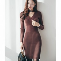Summer Charming Sexy Pencil Dress Celebrity Style Fashion Pockets Knee Length Bodycon Slim Business Sheath Party