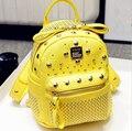 Alta Qualidade Designer de Marca Rebite Mochilas Mochila das Mulheres sacos de PU Mochila De Couro bolsa escola bolsa de Viagem Mochila pequena para As Meninas