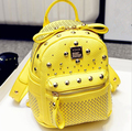 High Quality Designer Brand Rivet Backpacks Mochila Women's PU Leather Backpack Travel bag school bags small Backpack  for Girls