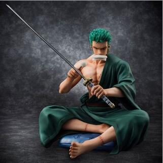 NEW hot 13cm One piece Roronoa Zoro Sitting position Action figure toys collection doll Christmas gift new hot 13cm sailor moon action figure toys doll collection christmas gift with box