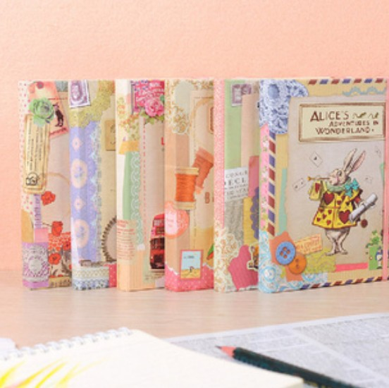 1pcs/lot  New Vintage cartoon series Hardcover notebook Notepad Planner Paper Notebook Writing Pads