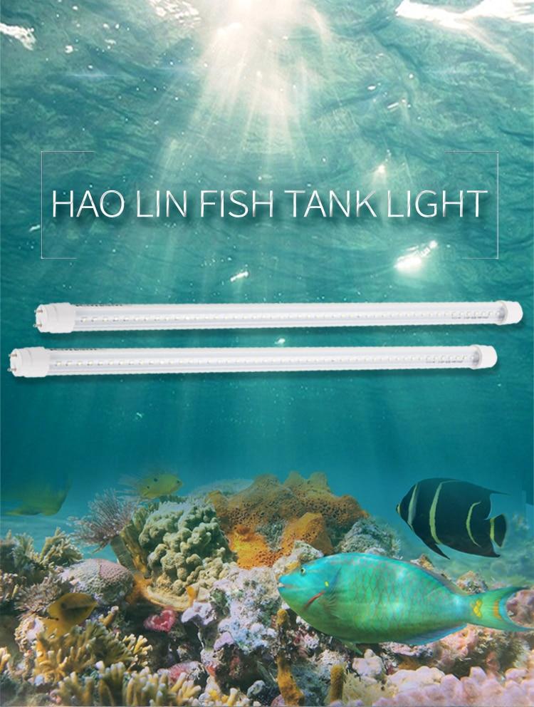 2pcs Led Aquarium Light Bar Coral Aquatic Plants Planting Fish Tank Fishing Light Tube Blue Red Pink White US Plug