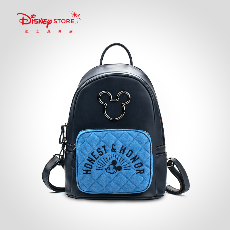 Disney Fashion Denim Blue Denim Mickey Diaper Bags Women's Casual Trends New Bags Women's Leisure Trends New Bags