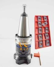 New M16 BT40 FMB27 45L+BAP400R 80mm-27-6T 6Flute Face Milling Cutter + 10pcs  APMT1604 PDER carbide inserts CNC mill