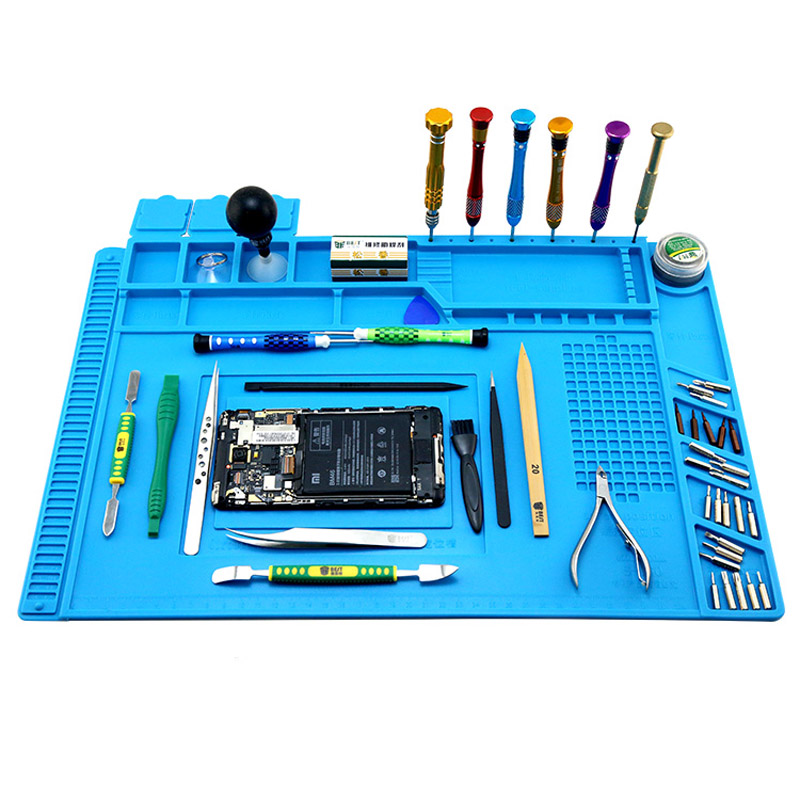 Heat Resistant Working Mat Heat Insulation Welding Phone Repair Pad BGA Soldering Station Insulation Platform Silicone Pad