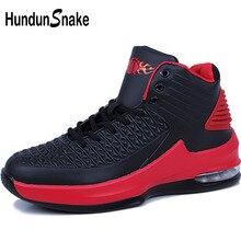 a20c3717d9e1 Hundunsnake Black Men Basketball Shoes Leather Sneakers High Top Sports  Shoes Men Basketball Shoes Men Basketball