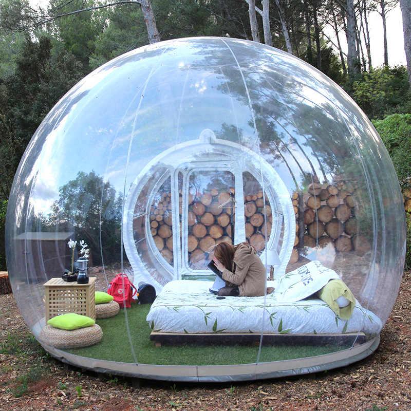 Tienda de campaña inflable de 3M al aire libre con burbujas, gran casa DIY, patio trasero, cabaña de Camping, tienda transparente con burbujas de aire