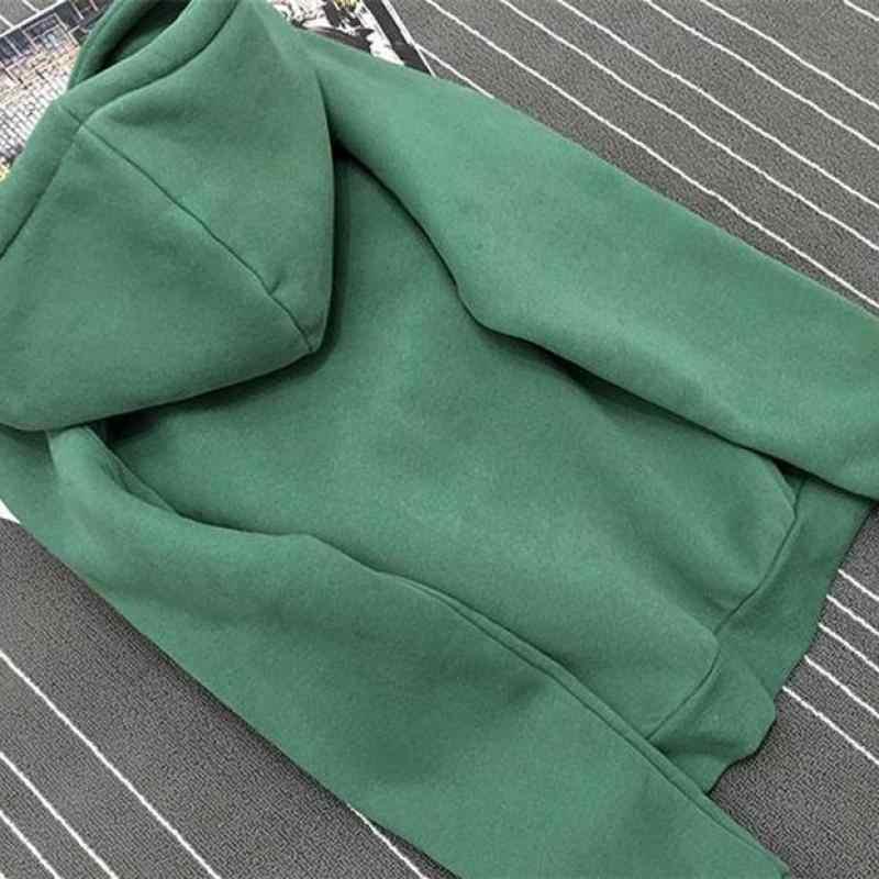 Otoño Invierno Polar Oh sí letra Harajuku estampado pulóver grueso suelto mujeres sudaderas Sudadera Mujer Casual abrigo