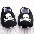 0-12 M Zapatos de Bebé Del Niño Del Cráneo Del Pirata Impreso Zapatos Casuales Zapatos Suaves Primeros Caminante
