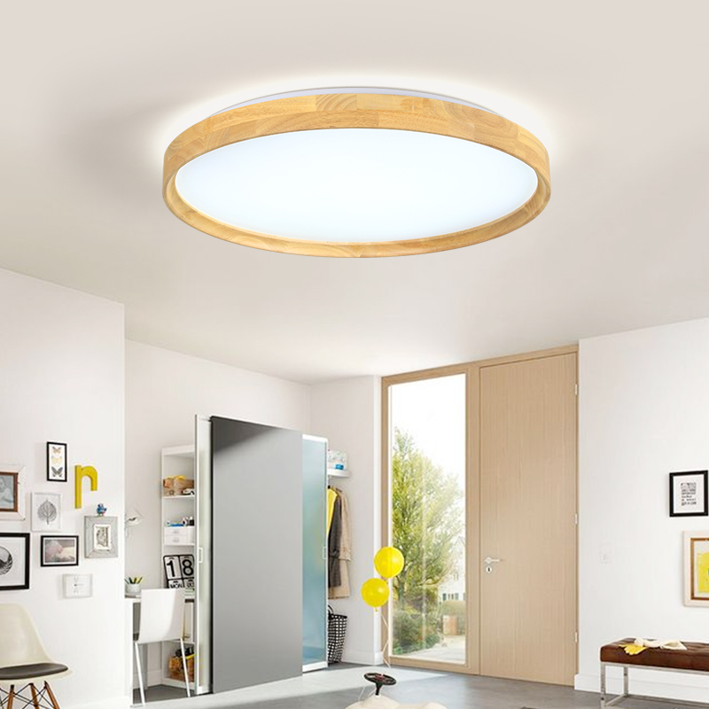 18W LED Modern Ceiling Light Round Wooden Ceiling Light Fixture Remote Control Indoor Bedroom Surface Mounted Decor Lighting18W LED Modern Ceiling Light Round Wooden Ceiling Light Fixture Remote Control Indoor Bedroom Surface Mounted Decor Lighting