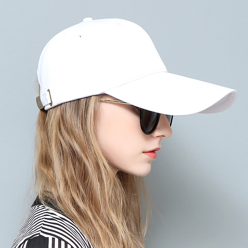 Lady New Baseball Cap Female Summer Sun Hat Girls Outside Travel Leisure Cap Visor White Black Cap Casual Hat B-8035 summer can be folded anti uv sun hat sun protection for children to cover the sun with a large cap on the beach bike travel