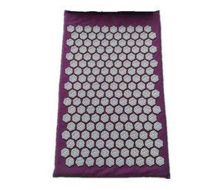 Image 3 - (67*42 cm) coussinets de Massage dacupuncture de ongles de Lotus coussin daiguille de Massage tapis de Massage de Yoga coussin de Massage dacupression