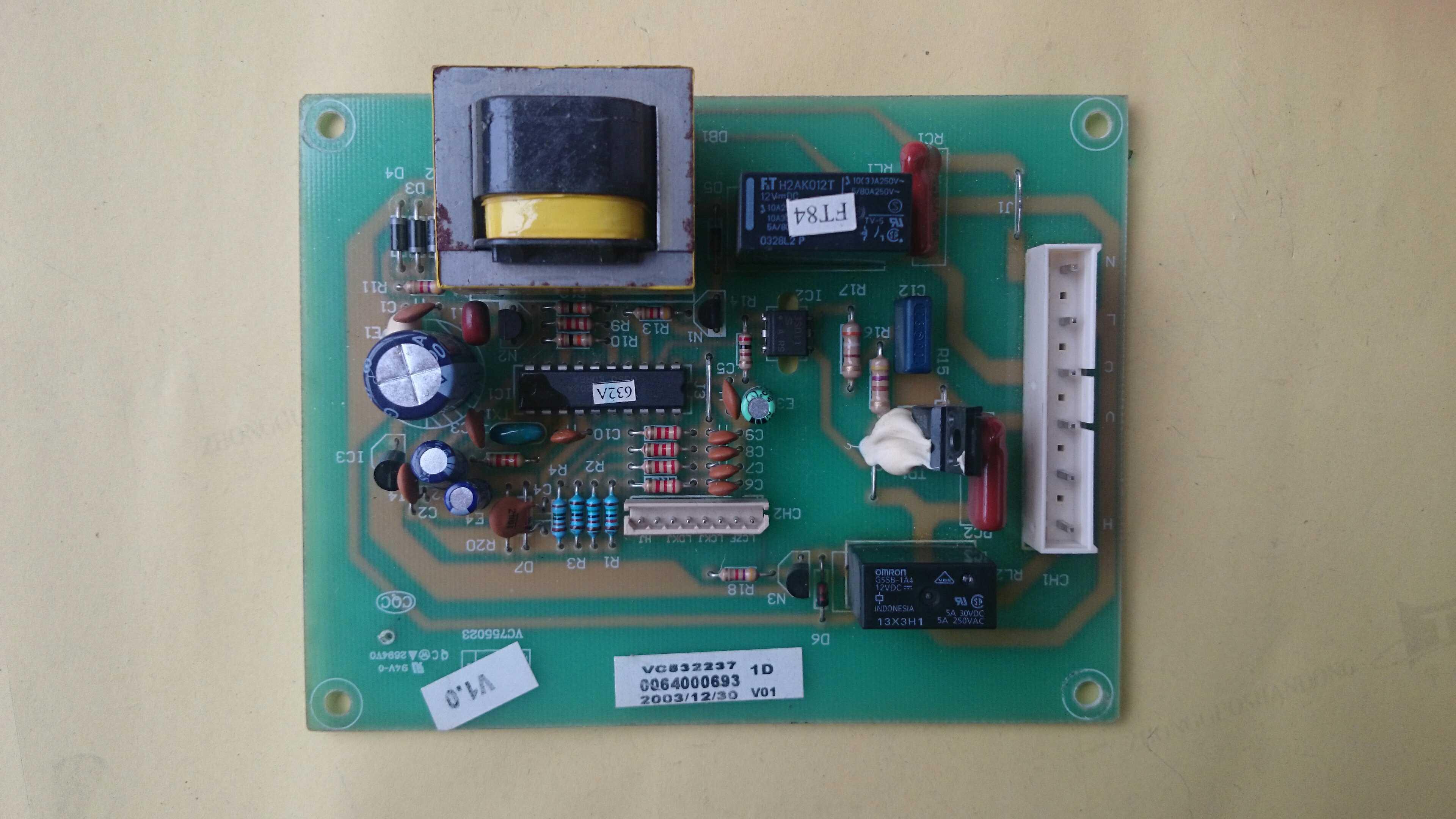 The original Haier refrigerator power main control board 0064000693 for Haier refrigerator BCD-206ZMD haier refrigerator power board main