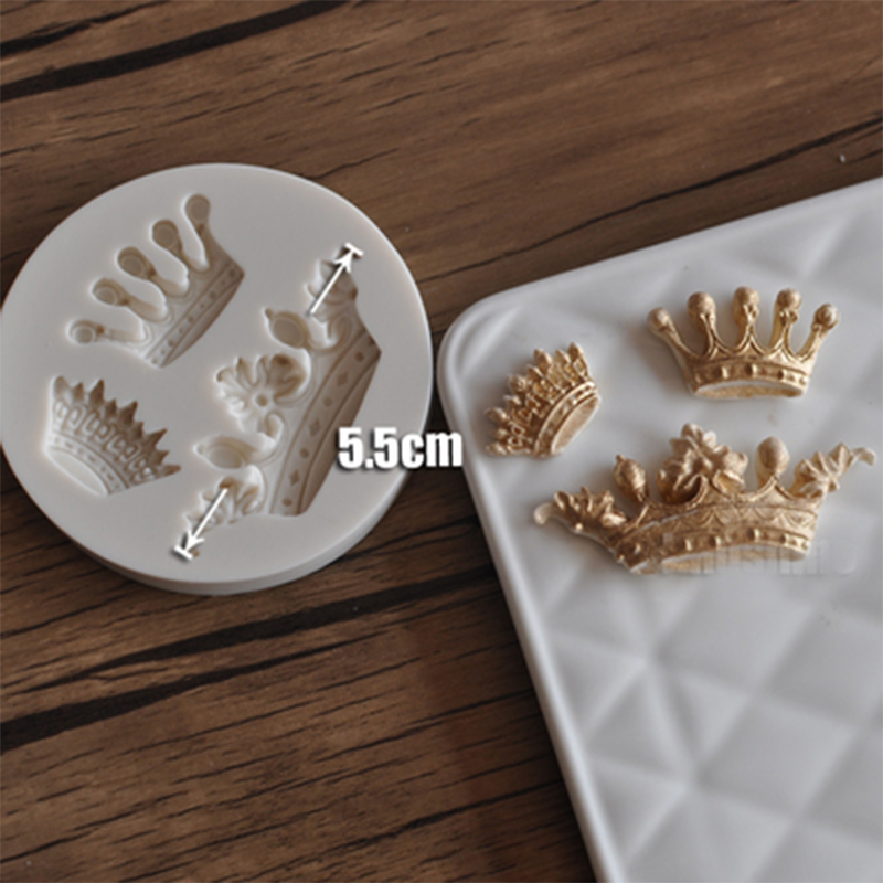 Mini Crown 3D Silicone Mold Silicone Birthday Cake Cupcake Decorating Fondant Mold DIY Baking Pastry Tool Soap Mold