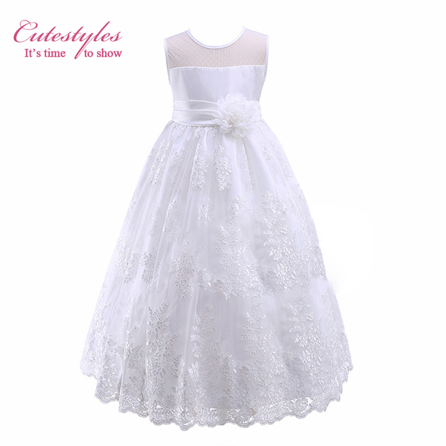 ddb959a402d Cutestyles 2019 Summer Girls Elegant White Dresses For Weddings And Partys  Hot Sale Infant Flower Dresses Online Wholesale