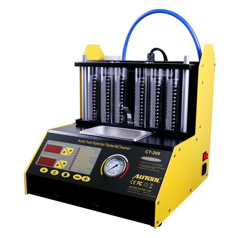 CT200 Car Ultrasonic Fuel Injector Cleaning Machine Injector Nozzle Tester Tool 6 Cylinder Cleaner Better Than Launch CNC602A