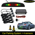 Free Shipping 1Set Car LED Parking Sensor Kit Display 4 Sensors for all cars Reverse Assistance Backup Radar Monitor System
