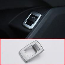 Для BMW X1 F48 2016-2018 ABS Матовый Хром Интерьер Хвост двери Swtich Кнопка рамка крышка автомобильные аксессуары для BMW X2 F47 2018