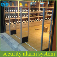 retail anti theft system eas RF system metal case soundn and light security alarm system