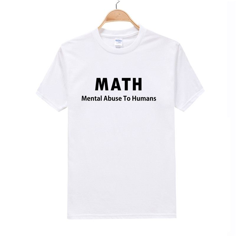 Cotton t-shirt Friend Gift I Love Math T-shirt Mens T Shirt Funny TShirt Geek Math Cool Shirt Math Teacher Funny english