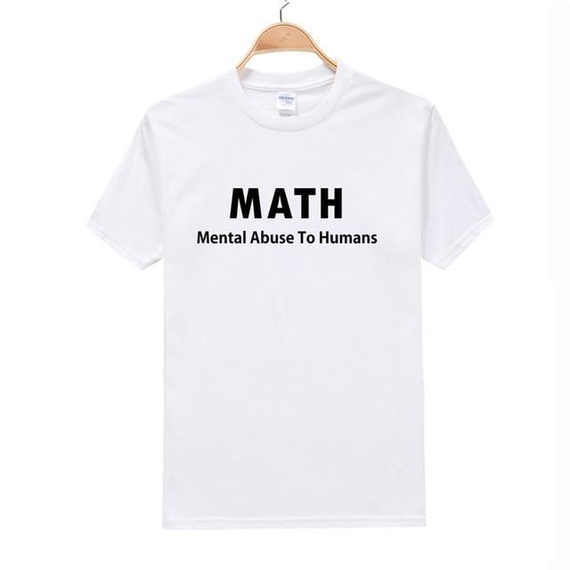 f68bd757b2ad Cotton t-shirt Friend Gift I Love Math T-shirt Mens T Shirt Funny TShirt  Geek Math Cool Shirt Math Teacher Funny english