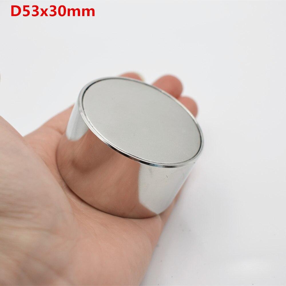 1 pcs Néodyme aimant N52 D53x30 Super strong ronde Rare Earth 50*30mm plus forte permanent puissant magnétique fer shell