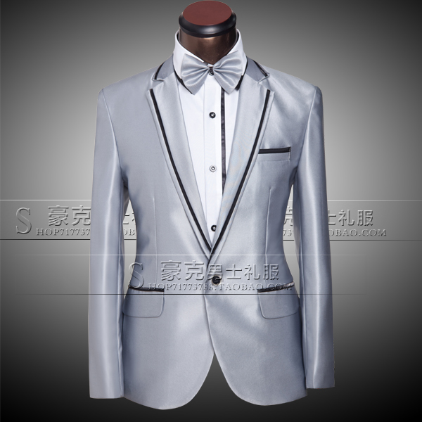 Jacket+pants+bow tie) 2015 Fashion Brand men suits custom fit tuxedo ...