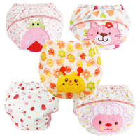QianQuHui 5Pcs Baby Training Pants Cotton Reusable Baby Diapers Waterproof Cloth Nappies Washable Diapers Learning Pants