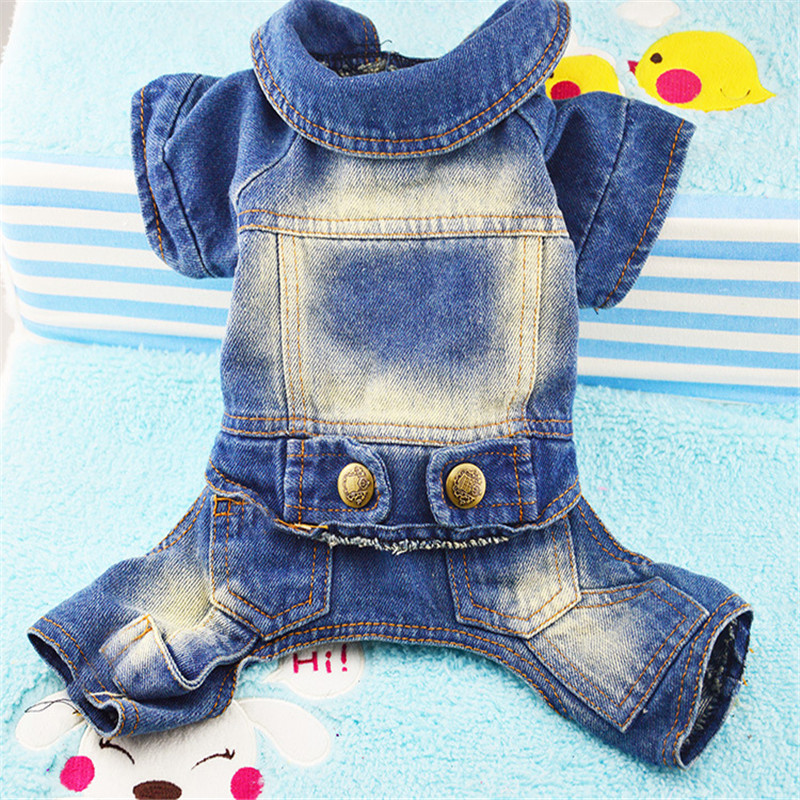 New Jean Fashion Pet Dog Pet Four-legged Clothes Dog Tedikin Maubomi Jeans Four-legged Clothes Casual Cowboy Siamese Clothes Dog