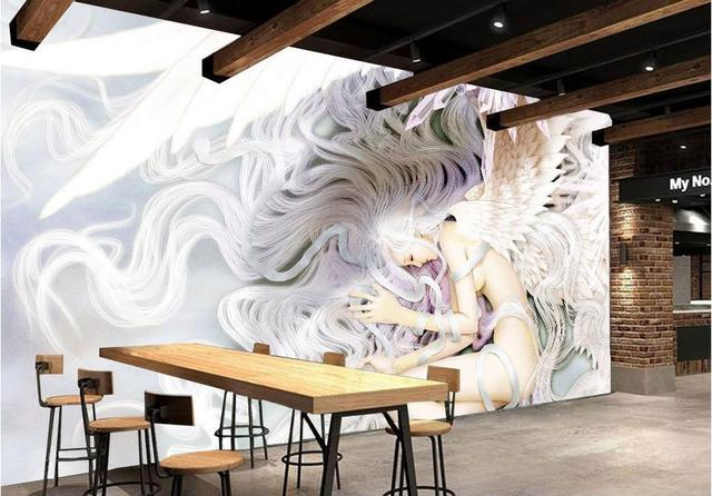 US $15.54 58% OFF|Anpassen 3d mural schöne mädchen fantasie engel  hintergrund 3d mural tapeten wohnzimmer fototapete 3d vlies tapete in  Anpassen 3d ...