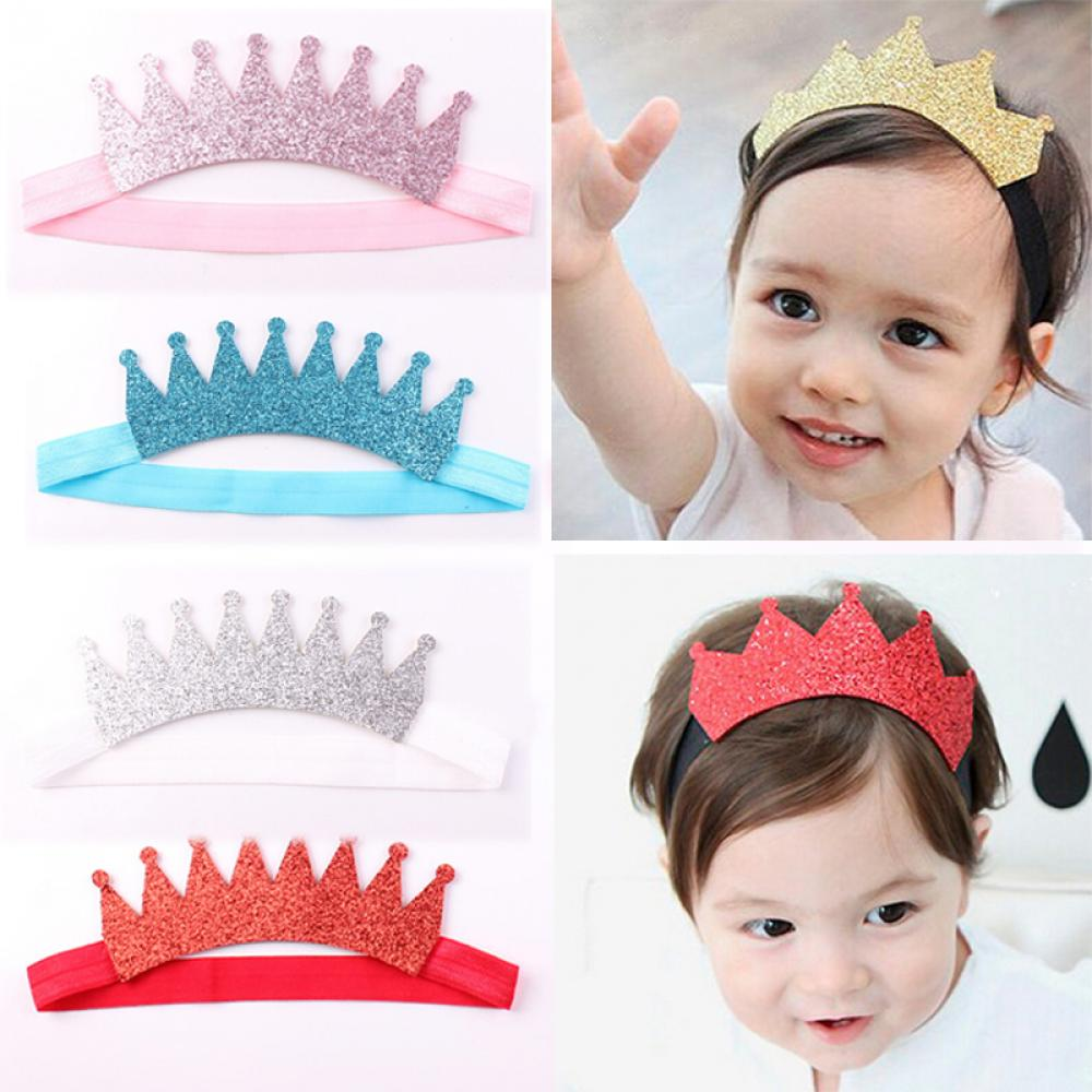 Kids Girl Baby Toddler Cute Crown Headband Hair Band Accessories Headwear