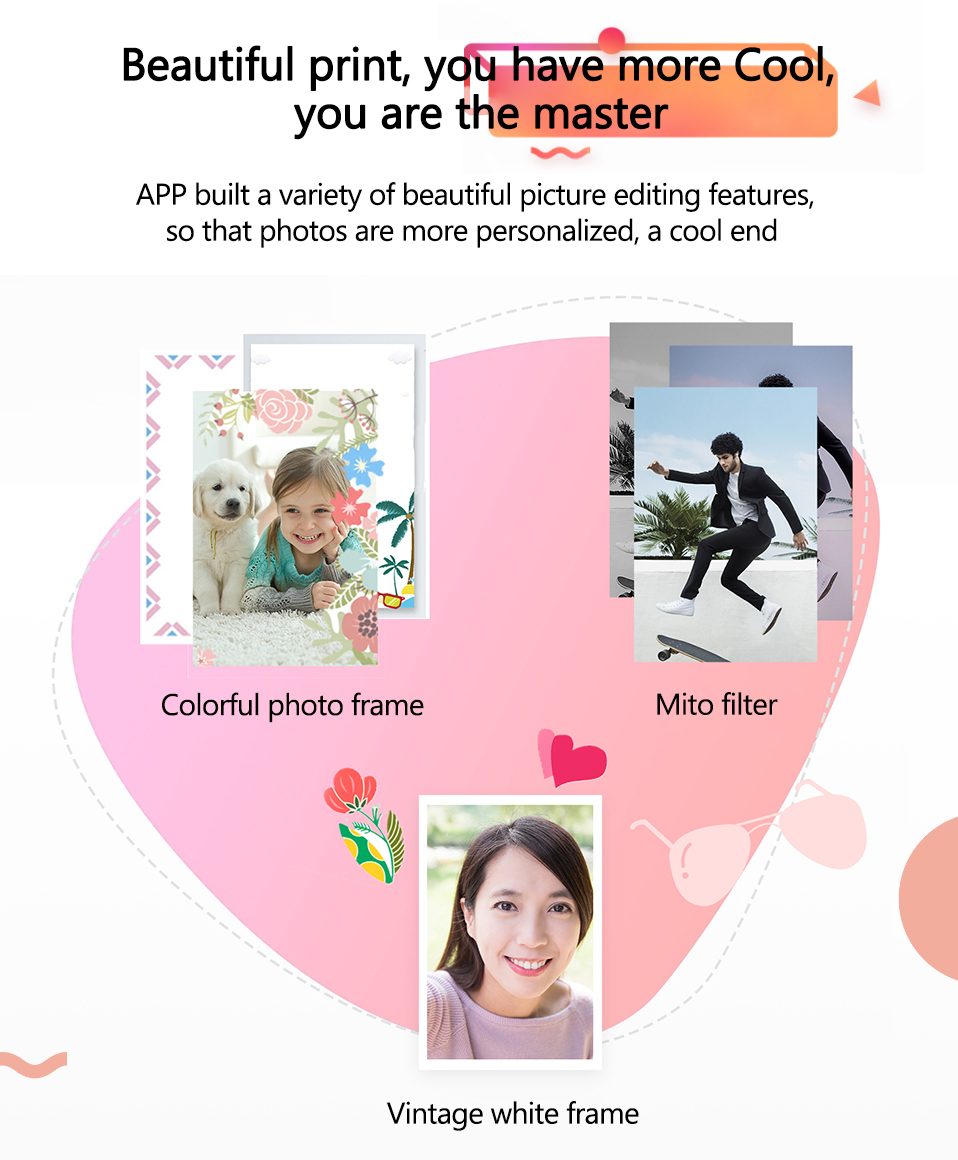 Original Huawei Zink Portable Photo Printer Honor Mini Pocket Printer Bluetooth 4.1 Support DIY Share 500mAh AR Printer 300dpi (2)