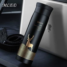 450ML Deer Thermos Cup Thermo Mug Vacuum Cup Travel Thermocup Stainless Steel Bottle Thermal Bottle Insulated Tumbler Men Gift