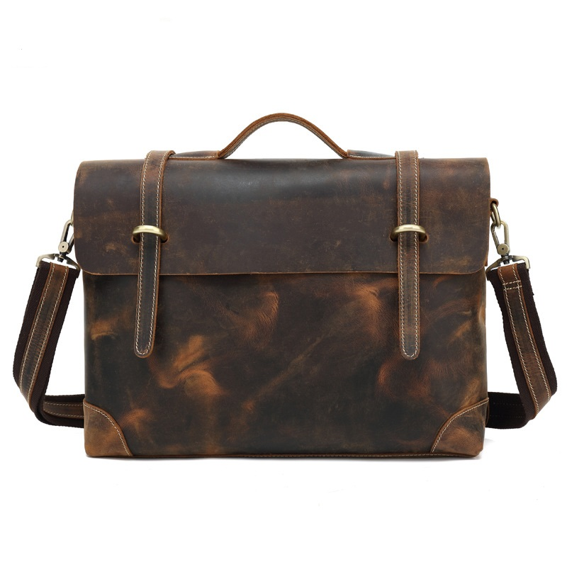 3122 Europe and the United States leather handbag first layer Male Messenger Bag high-end Men's Business Leather Shoulder Bag europe and the united states fashion hit color cow split leather shoulder bag retro simple minimalist leather handbag