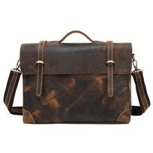 3122 Europe and the United States leather handbag first layer Male Messenger Bag high-end Men's Business Leather Shoulder Bag