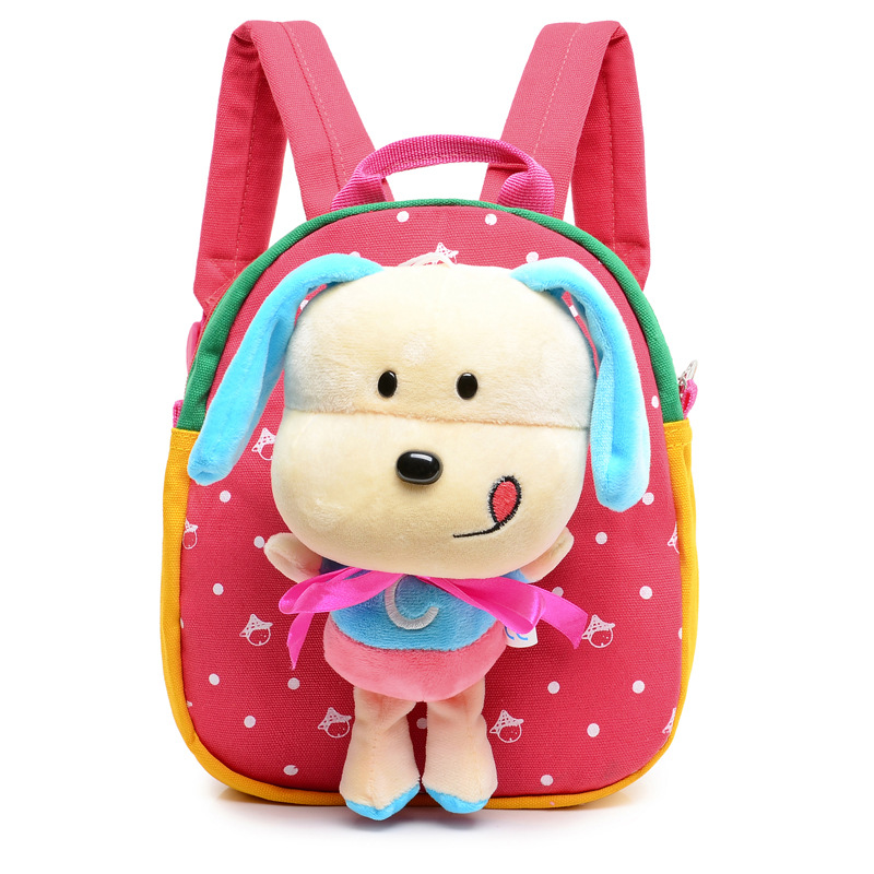 2017 Kids Animal New Cute Cartoon Puppy School Backpack Children Small Dog School Bag Kindergarten Bag for Boys Girls Backpack new fashion animal school bag for boys cute dog children orthopedic school backpack for girls children mochila escolar for kids