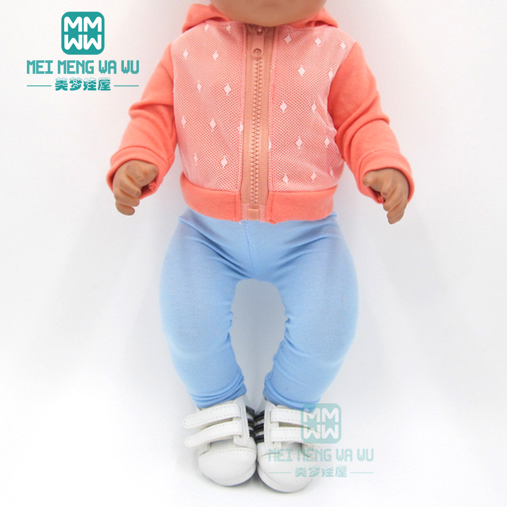 Baby Clothes For Doll Fit 43cm Toy New Born Doll And American Doll Fashion Sports And Leisure Suit Jacket + Stretch Pant